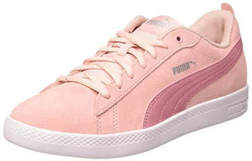 PUMA Damen Smash WNS V2 SD Sneaker, Peachskin Foxglove Silver Weiß, 39 EU