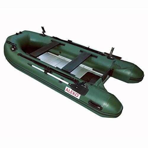 ALEKO Inflatable Boats Heavy Duty Raft Fishing Boat Dinghy (320, Aluminum Deck,...