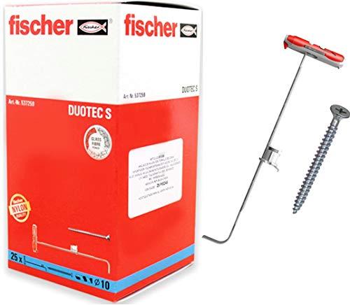 Fischer Taco DuoTec 12 (Caja de 10 Ud.), 542796, Gris/Rojo