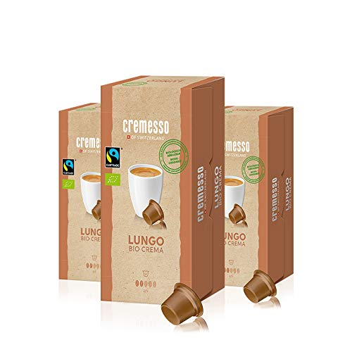 Cremesso Lungo Bio Crema, 16 capsule, confezione da 3