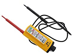 IDEAL INDUSTRIES INC. 61-076 Vol-Con Solenoid Voltage Tester with Vibration Mode, AC/DC Voltage Level Testing, CATIII for 600v