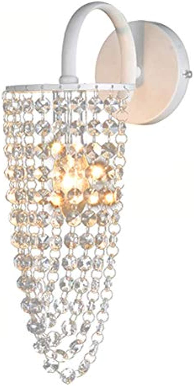Xiao Fan  Moderne Kristallkorridor-Wandleuchte Kristall Haning Prinzessin Schlafzimmer Bedsides Wandleuchte Arbeitszimmer Flur Balkon Wandleuchten