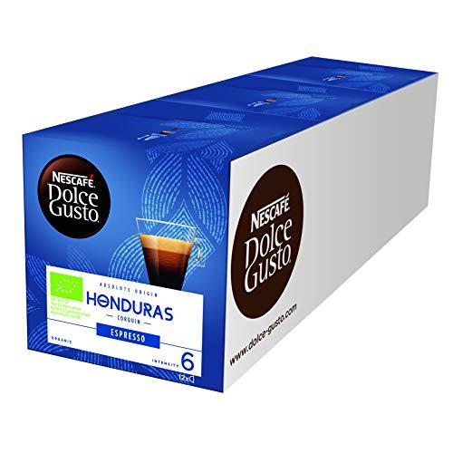 NESCAFÉ Dolce Gusto Honduras Espresso 36 Kaffeekapseln (Hochland Arabica Bohnen, Bio-Kaffee, Milder und sanfter Espresso, Absolut Origin, Aromaversiegelte Kapseln) 3er Pack (3 x 12 Kapseln)