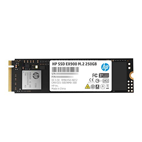 Price comparison product image HP EX900 M.2 250GB PCIe 3.0 x4 NVMe 3D TLC NAND Internal Solid State Drive (SSD) 2YY43AA ABC