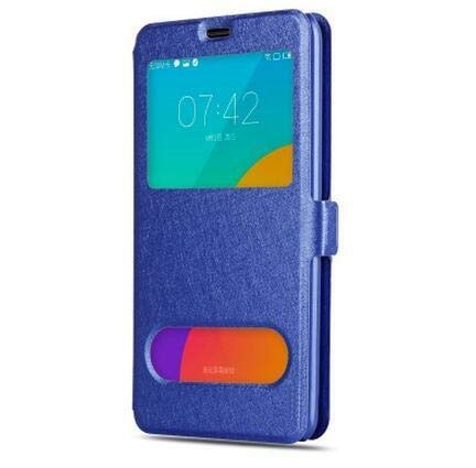 RZL Teléfono móvil Fundas para Samsung Galaxy A10 A30 A40 A50, Vista rápida Flip Funda de Cuero para Samsung J3 J5 J7 2017 A3 A5 A7 2016 (Color : Black Leather Case, Talla : For A5 A500 2015)