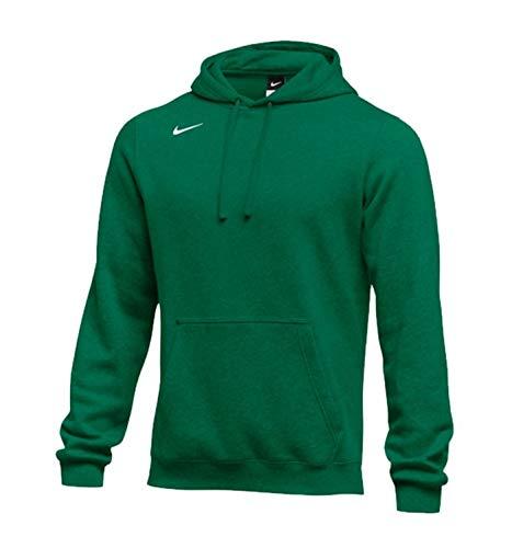 Nike Men's Pullover Fleece Club Hoodie (X-Large, Dark Green)