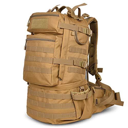 UBDER herr och dam bergsklättringsväska utomhus resande ryggsäck-resa-arning-ryggsäck hållbar (färg: Kaki)