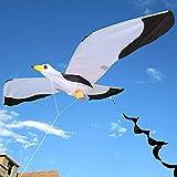 MxZas Línea Cometa de Cola 3D Gaviota Cometa Juguete for niños con Tailfun al Aire Libre del Vuelo de la Actividad Juego de Niños con la Familia Deportes fácil de Volar la Cometa de energía Jzx-n