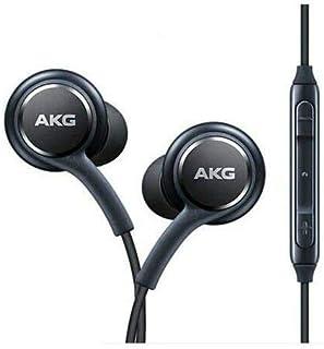 Auriculares estéreo oficiales OEM para Samsung Note 10 Note 10+ S10 Plus S10e Cable trenzado – Diseñado por AKG – con micrófono, contestar/finalizar llamadas y botones de volumen (negro)