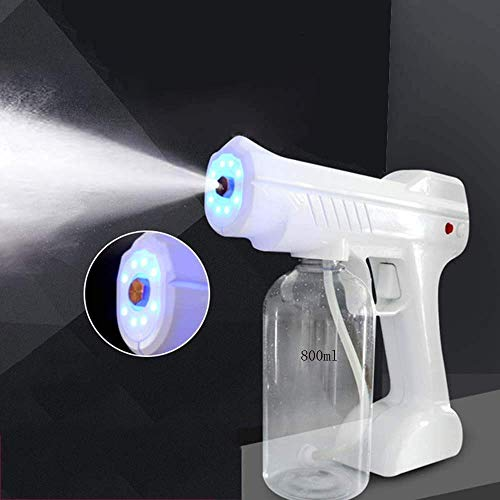 Qiutianchen Spritzsprühmaschine, Nano Desinfektion Zerstäubung Sprühmaschine Desinfektion Blaue Licht Dampfpistole Haarsprühmaschine Ultra Feiner Aerosol-Wasser-Nebel-Trigger-Sprayer