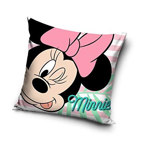Une Mickey oder Minnie Maus Kissenhülle Kissenbezug 40x40 cm (Rosa 20713)