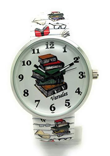 Ladies Novelty Book Lover School Teacher Elegant Stretch Elastic Band Fashion Watch Versales Varsales