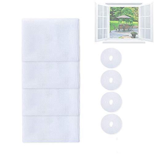 4 Stück Fliegengitter für Fenster, Moskito-Insekten-Netz, Abnehmbar und Waschbar, Verhindern Das Einfliegen Von Insekten, für Küche, Toilette Usw