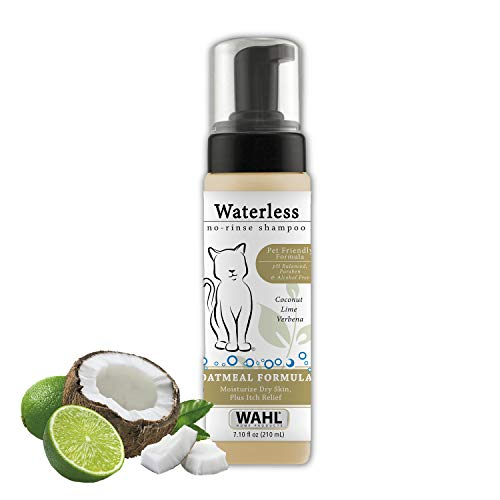 Wahl Cat Waterless Shampoo for Soothing Damaged Skin, Refreshing, Cleaning, and Removing Odors Between Baths, 7.1 Oz - Model 820015-500