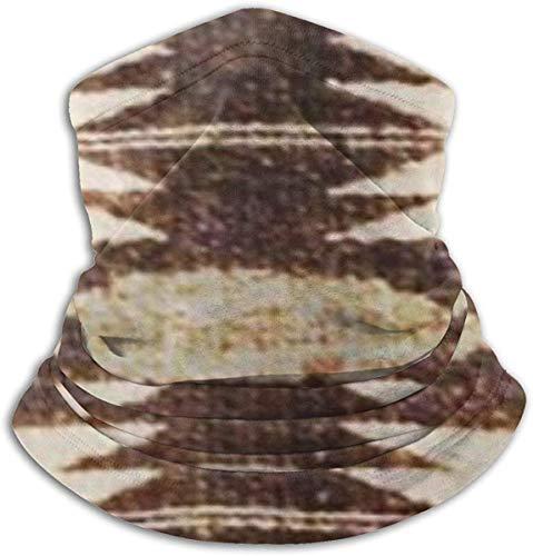 Amanda Horatio Polainas para cuello con estampado tribal nativo americano, forro polar grueso para clima frío para hombre y mujer, talla única