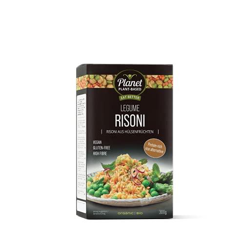 Planet Plant-Based, Bio Risoni de legumbres ricas en proteínas, perfecto para ensaladas y currys, vegano, sin gluten, rico en fibra