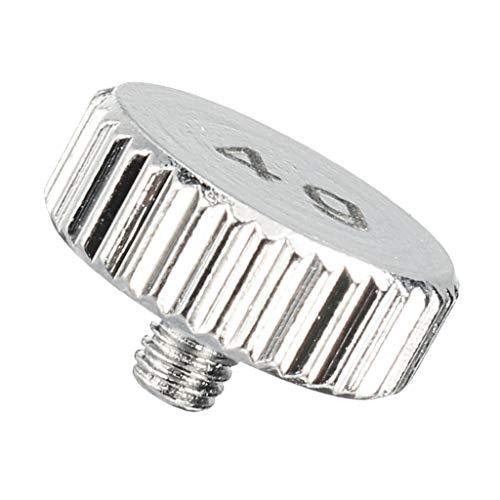 F Fityle Caja de DJ Peso Artículo Piezas de La Carcasa de La Cabeza Mezcla de Audio Piezas del Cartucho de La Placa Giratoria de Vinilo - Plata 4g