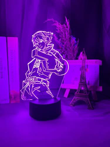 League of Legends Ezreal Figure Kids Night Light para la decoración del dormitorio Luz LED que cambia de color Cool Boy Friend Regalo de cumpleaños El