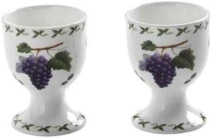 Preisvergleich für Maxwell & Williams PB8401 Orchard Fruits Eierbecher, Eierhalter, Motiv: Trauben, 2er Set, in Geschenkbox, Porzellan