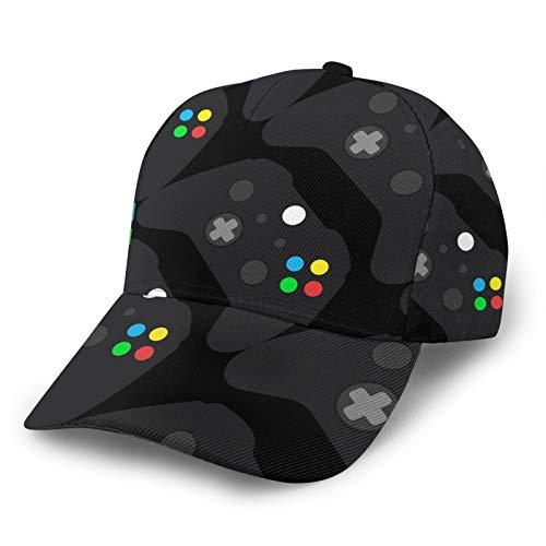 LAOLUCKY Gorra de béisbol ajustable con cierre snapback casual Trucker Hats Sun Hat Men Women Erdy Nerd Geek - Mando para videojuegos Talla única