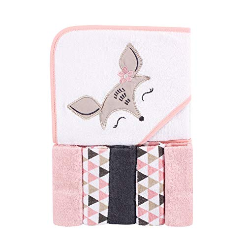 Luvable Friends Unisex Baby Hooded Towel with Five...