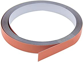First4magnets ST12 (PA/GW)-1X5M 12,5 mm breed x 0,4 mm dik wit glanzend stalen tape met premium zelfklevende rol (5 m ro...
