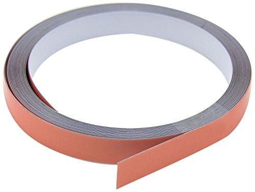 First4magnets ST12(PA/GW)-1X5M 12,5mm breites x 0,4mm dickes weiß-glänzendes Stahlklebeband mit Premium-Selbstkleber (5m Roll), 12.5mm wide x 0.4mm thick