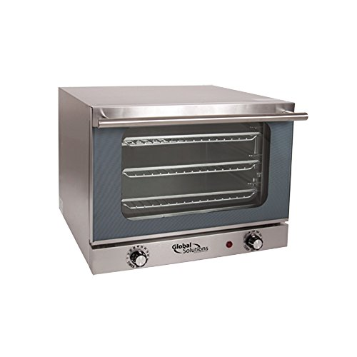 Global Solutions by Nemco GS1200 Electric Countertop 1/4 Size Convection Oven with Manual Controls