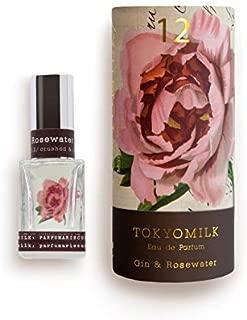 TOKYOMILK Eau De Parfum, Gin & Rosewater #12, 1 Fl Oz