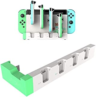 【Gooing】 限定どうぶつの森カラー 多機能! 4台同時急速充電! Nintendo Switch スイッチ 4in1 充電スタンド Joy-Con ジョイコン 4台 過電流保護 収納一体型 (4in1 ミント)