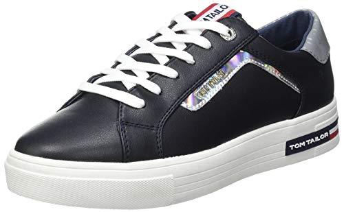 TOM TAILOR Damen 1194503 Sneaker, Navy, 39 EU