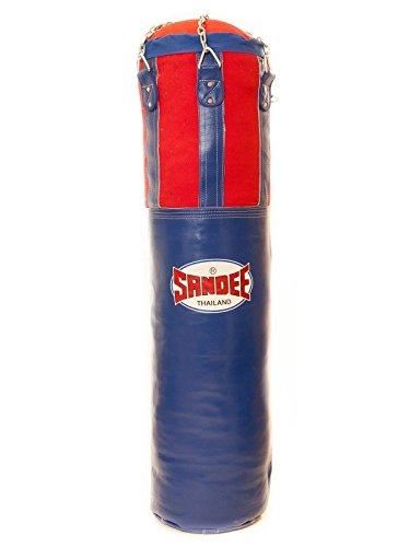 Sandee Noir et rouge moitié Cuir Sac de frappe Kick boxing Sparring, 5ft
