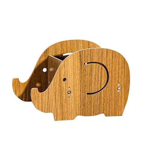 Haodou. Soporte Para BolíGrafo Ballena Elefante Soporte Para BolíGrafo de Madera PapeleríA de Oficina Estante de Almacenamiento de Control Remoto 16 * 8 * 11 Cm- Nogal elefante