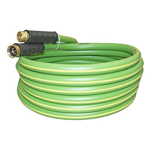 Garden Hose - Durable PVC Non Kinking Heavy Water Hose with Brass Hose Fittings (5/8 IDx20 (20 FEET))