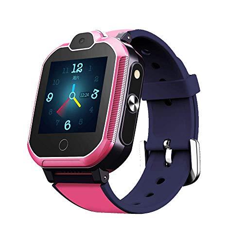 Simmotrade® 4G GPS Tracker Uhr für Kinder. Smartwatch mit Telefon und Notruf, Deutscher GPS Tracker Shop (pink)