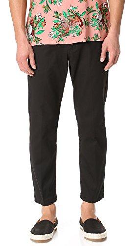 OBEY Men's Straggler Flooded Pant, Black, 32