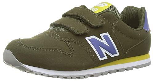 New Balance 500 YV500TGR Medium, Basket garçon, Green (Oak Leaf Green TGR), 32.5