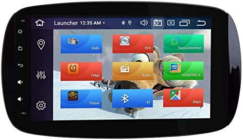 MIVPD Coche Estéreo GPS Navegación Compatible con Benz Smart Auto Audio Player Android 8.0 Unidad De Cabeza Sat Nav MP5 Player FM Radio Receptor SWC 9 Pulgadas Pantalla Táctil,8 Core 4G+WiFi 2+32GB
