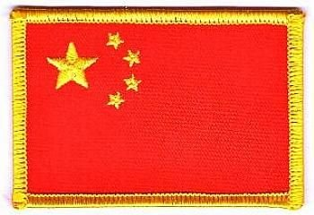 Flaggen Aufnäher Patch China Fahne Flagge NEU