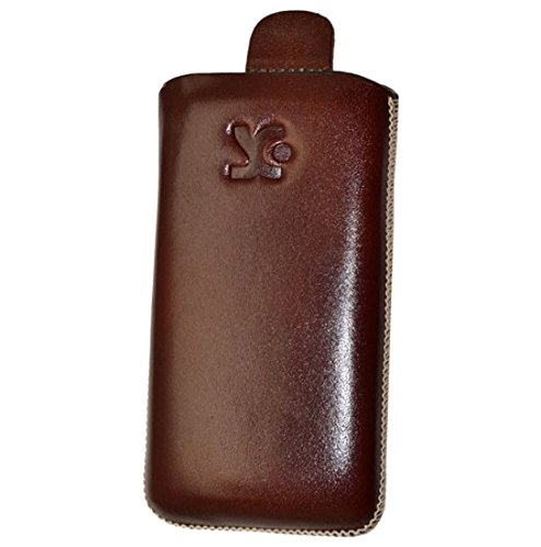 Suncase 39657919absaugart braun Tasche Etui für Handy hüllen für Mobiltelefone (Koffer Extraktion, Emporia Talk Basic, braun)