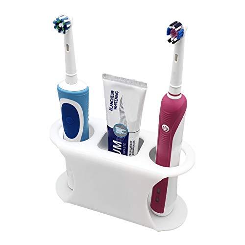 SmartProduct Selbstklebende Zahnbürstenhalter für 2 Elektrische Zahnbürste und 1 Zahnpasta, Model B