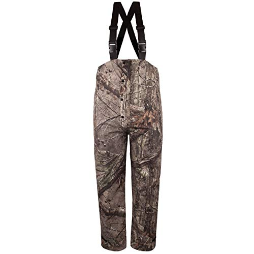 Huntworth Men's Micro Fiber Lined Waterproof Camouflage Bib Overalls (HIDD'N Camo, Large)