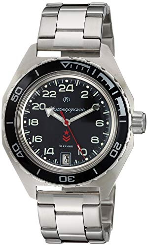 Vostok Komandirskie Automatic 24 Hour Dial Russian Military Wristwatch WR 200m