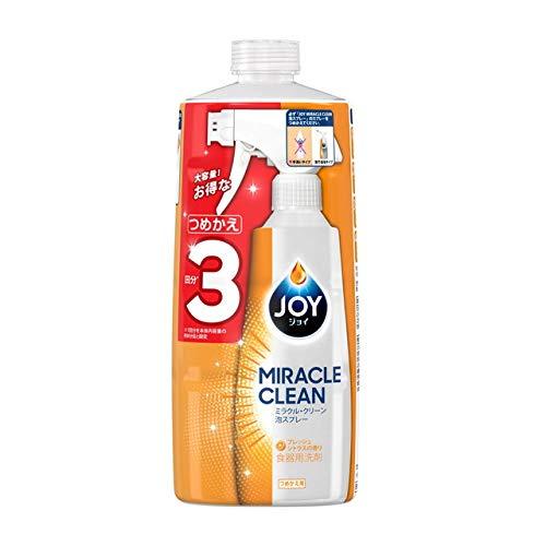 《セット販売》 P&G ジョイ ミラクルクリーン 泡スプレー フレッシュシトラスの香り つめかえ用 (690mL)×3個セット 詰め替え用 食器用洗剤 【P&G】