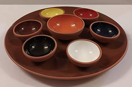 Cuenco decorativo y elegante para aperitivos, juego de galletas de cerámica, plato para salsa, mini plato de especias lateral, cuencos para sushi de soja