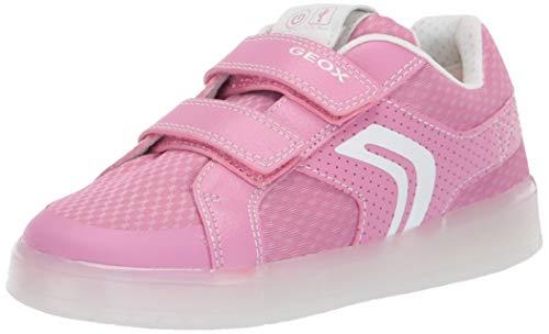Geox Mädchen J KOMMODOR Girl C Sneaker, Pink (Dk Pink/White C8241), 39 EU