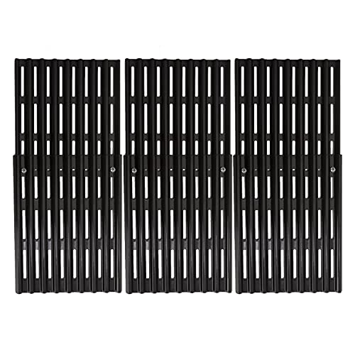 ROLLGAN Extension Cooking Grate 3 Pcs Porcelain Steel Adjustable Replacement BBQ Grills Gas Grills Electric Grills Cooking Grid Extends from 13' up to 20' Deep(8 inch Wide)