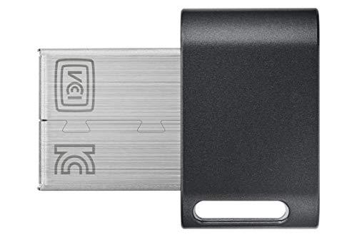 Samsung Memorie Fit Plus USB Flash Drive, USB 3.1, Type-A, Velocità di Lettura Fino a 300 MB/s, 64 GB, Grigio Titanio (MUF-64AB)