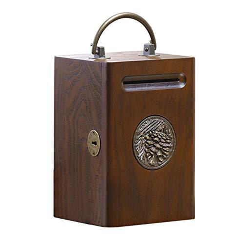 Hucha Madera Piggy Bank Non-Password Box Hucha Bank Creativo Gran Capacidad Caja De Seguridad Caja De Seguridad para Niños Caja de Efectivo