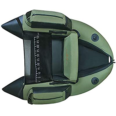 Z&HAO Professional Inflatable Fishing Catamaran PVC Rubber Boat For Fishing Kayak 1 Person Inflatable Fishing Chair Single Rowing Boat,Fishingboat by Z&HAO